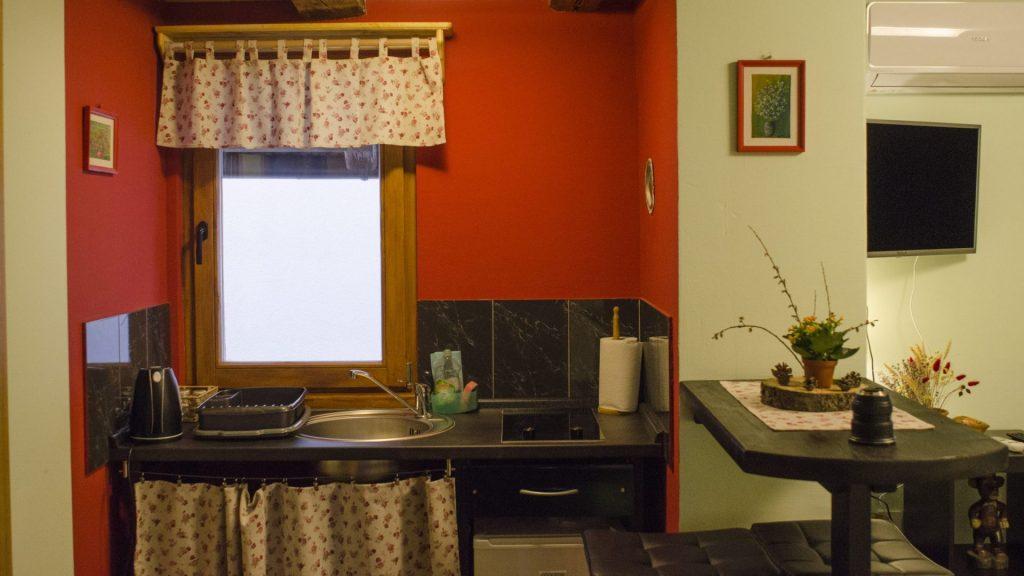 Turistična agencija Iter - apartmajska hiša_ Dovje apartma kuhinja